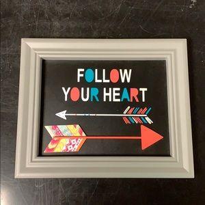 Follow your heart sign